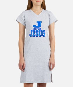 J is for Jesus Women's Nightshirt