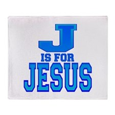 J is for Jesus Throw Blanket