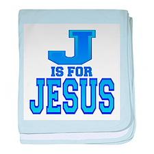 J is for Jesus baby blanket