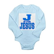 J is for Jesus Long Sleeve Infant Bodysuit