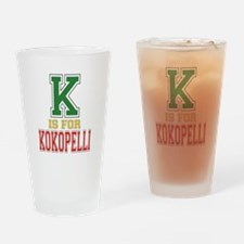 K is for Kokopelli Drinking Glass