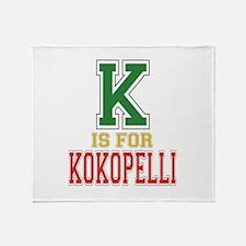 K is for Kokopelli Throw Blanket