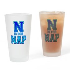 N is for Nap Drinking Glass