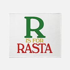 R is for Rasta Throw Blanket