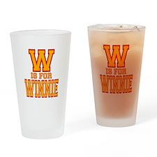 W is for Winnie Drinking Glass