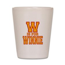 W is for Winnie Shot Glass
