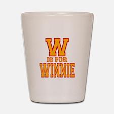 W is for Winnie Shot Glass