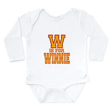 W is for Winnie Long Sleeve Infant Bodysuit