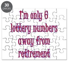 Only 6 lottery numbers away Puzzle