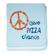 Give Pizza Chance baby blanket