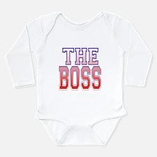 The Boss Long Sleeve Infant Bodysuit