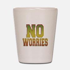 No Worries Shot Glass