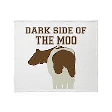 Dark Side Of The Moo Throw Blanket