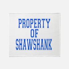 Property of Shawshank Throw Blanket