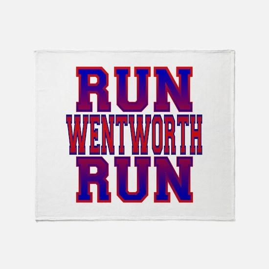 Run Wentworth Run Throw Blanket