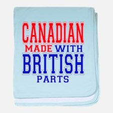 Canadian Made With British Pa baby blanket