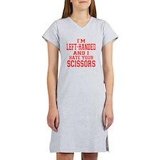 Left Handed Scissors Women's Nightshirt