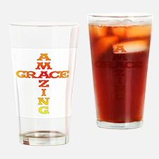 Amazing Grace cross Drinking Glass