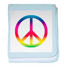 Peace Symbol baby blanket