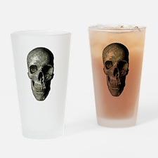 Gray Skull Drinking Glass