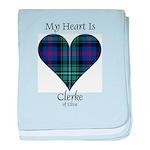 Heart - Clerke of Ulva baby blanket