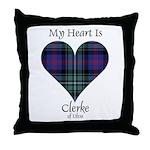 Heart - Clerke of Ulva Throw Pillow