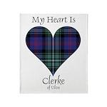 Heart - Clerke of Ulva Throw Blanket