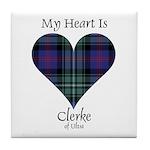 Heart - Clerke of Ulva Tile Coaster