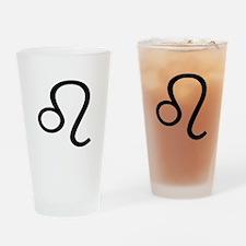 Leo Symbol Drinking Glass
