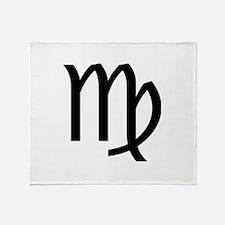 Virgo Symbol Throw Blanket