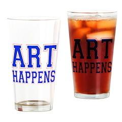Art Happens Drinking Glass