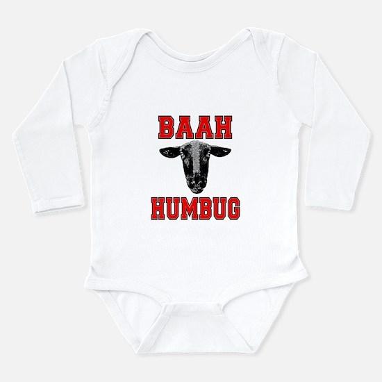 Baah Humbug Long Sleeve Infant Bodysuit
