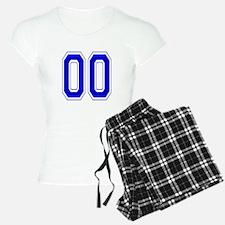 Varsity Font Number 00 Blue Pajamas