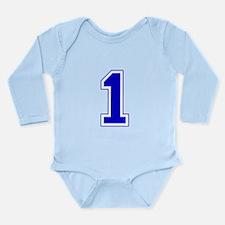 Varsity Font Number 1 Blue Long Sleeve Infant Body