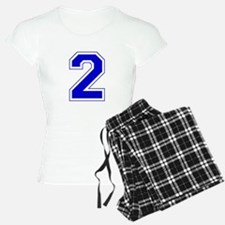 Varsity Font Number 2 Blue Pajamas