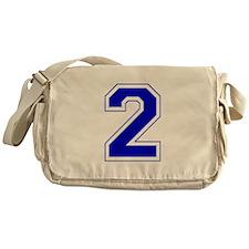 Varsity Font Number 2 Blue Messenger Bag