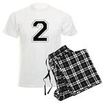 Varsity Font Number 2 Men's Light Pajamas