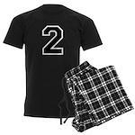 Varsity Font Number 2 Men's Dark Pajamas
