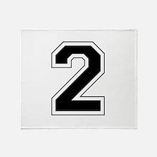 Varsity Font Number 2 Throw Blanket
