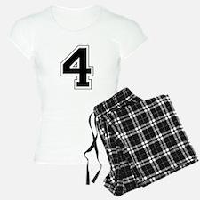 Varsity Font Number 4 Black Pajamas