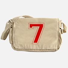 Varsity Font Number 7 Red Messenger Bag