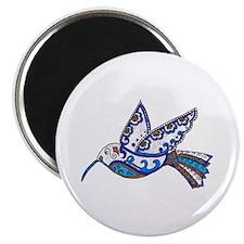 "Hummingbird-Slate and Blue 2.25"" Magnet (10 pack)"