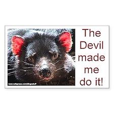 """Tasmanian Devil"" Rectangle Decal"
