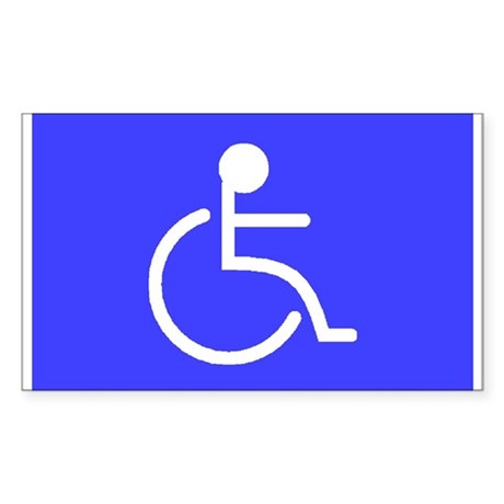 """""""Disabled"""" Rectangle Sticker"""