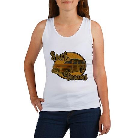 Surf Dreams Woodie Wagon Women's Tank Top
