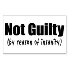 Not Guilty Insanity Decal