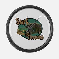 California Surf Dreams Woody Large Wall Clock