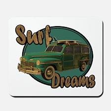California Surf Dreams Woody Mousepad