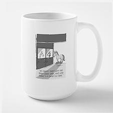 Near Side: A Draft in Here Large Mug