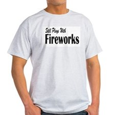 Plays With Fireworks Ash Grey T-Shirt